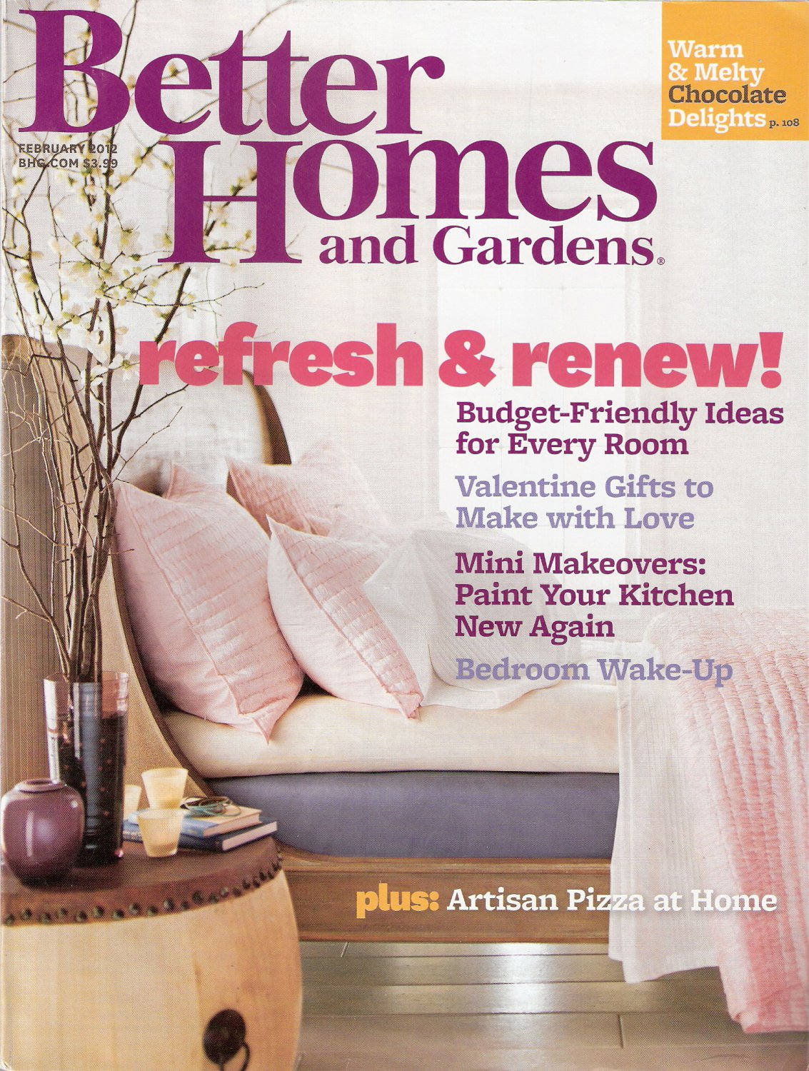 Better Homes and Gardens Magazine February 2012 Refresh and Renew