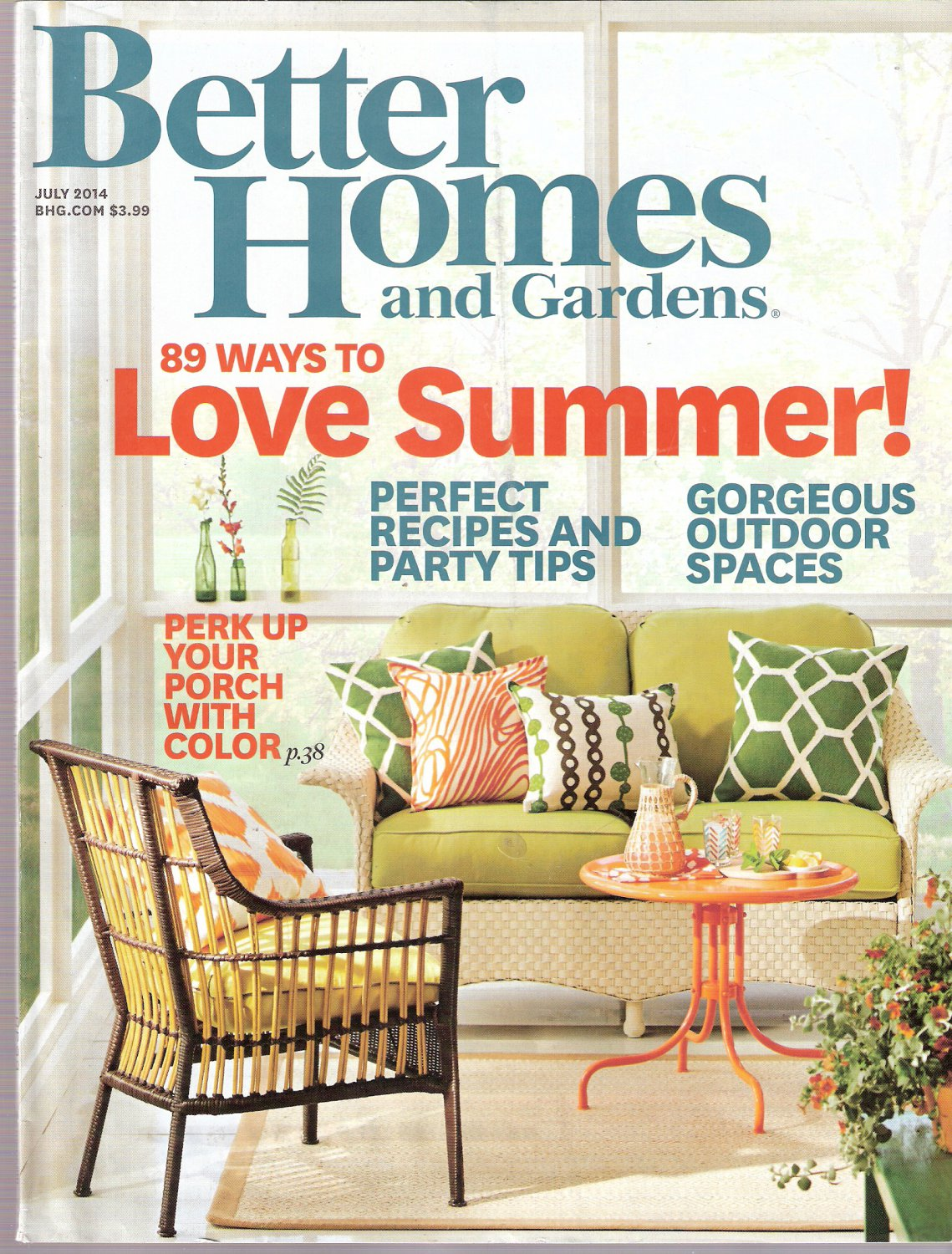 Better Homes and Gardens Magazine July 2014 89 Ways To Love Summer
