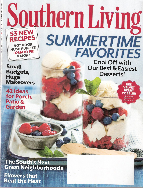Southern Living Magazine July 2012 Summertime Favorites