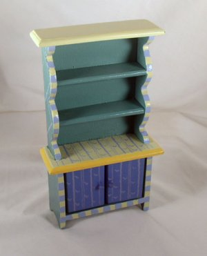 Country Hutch 1:12 Dollhouse Miniature