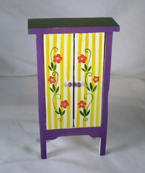Striped Cabinet 1:12 Dollhouse Miniatures