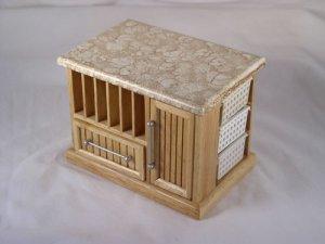 Oak Bistro Island 1:12 Dollhouse Miniature