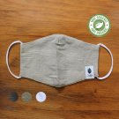 Bamboo Face Mask With Filter Pocket, 3-Layer, Grey, Olive, White Organic and Reusable