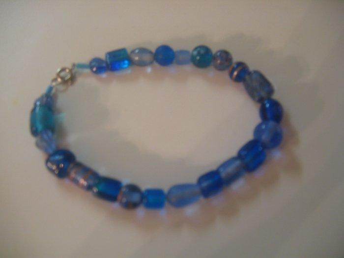 Chunky Blue Glass