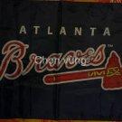 Atlanta Braves Baseball Balck flag 3X5Ft Banner USA Polyester with Brass Grommets