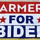 Joe Biden Flag 2024 Farmers For Biden Block Harris USA Sign Poster 3x5ft