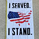 American Flag 2024 I Served I Stand Veterans Trump USA Sign Poster 3x5ft
