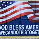 American Flag 2024 God Bless America We Can Trump USA Sign Poster 3x5ft