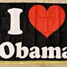 Obama Flag 2024 I Heart Obama Biden Clinton Trump USA Sign Poster 3x5ft