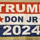 Donald Trump Flag 2024 Don Jr Fix 2 Star Block Army USA Sign 3x5ft