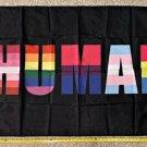 Make America Gay Flag LGBTQ Trump Biden HUMAN USA Sign Poster 3x5ft