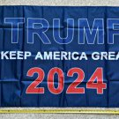 Donald Trump Flag 2024 Don Jr Blue Red USA Army Sign Poster 3x5