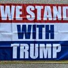 Donald Trump Flag Don Jr Ivanka We Stand Block USA 2024 Sign 3x5ft