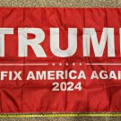 Donald Trump Flag 2024 Don Jr Fix America Red Army USA Sign 3x5ft