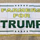 Donald Trump Flag Farmers For Trump WHITE 3x5Ft Sign USA John Deere
