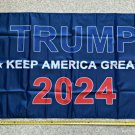 Donald Trump Flag 2024 Don Jr Blue Red USA Army Sign Poster 3x5Ft