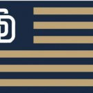 San Diego Padres Baseball US Flag 3X5Ft Banner USA Polyester with Brass Grommets