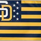 San Diego Padres Stars & Stripes Nation Flag 3X5Ft Banner USA Polyester with Brass Grommets