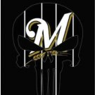 Milwaukee Brewers Vertical Black Flag 3X5Ft Banner USA Polyester with Brass Grommets