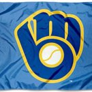 Milwaukee Brewers Retro Glove Flag 3X5Ft Banner USA Polyester with Brass Grommets