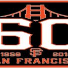 San Francisco Giants 60th Anniversary Flag 3X5Ft Banner USA Polyester with Brass Grommets