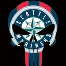 Seattle Mariners Skull Vertical Flag 3X5Ft Banner USA Polyester with Brass Grommets