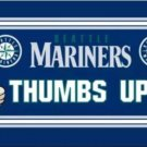 Seattle Mariners Stripes Flag 3X5Ft Banner USA Polyester with Brass Grommets