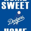 Los Angeles Dodgers Home Sweet Flag 3X5Ft Banner USA Polyester with Brass Grommets
