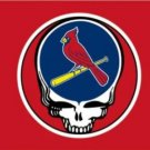 St. Louis Cardinals Deah Skull Flag 3X5Ft Banner USA Polyester with Brass Grommets
