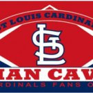St. Louis Cardinals Man Cave US Flag 3X5Ft Banner USA Polyester with Brass Grommets