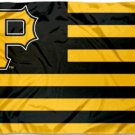 Pittsburgh Pirates Nation US Flag 3X5Ft Banner USA Polyester with Brass Grommets