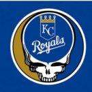 Kansas City Royals Dead Skull Flag 3X5Ft Banner USA Polyester with Brass Grommets