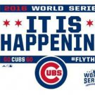 Chicago Cubs it is happening Flag 3X5Ft Banner USA Polyester with Brass Grommets