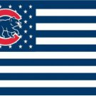 Chicago Cubs Flag with Star and Stripe Flag 3X5Ft Banner USA Polyester with Brass Grommets