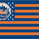 New York Mets Star And Stripes American flag 3X5Ft Banner USA Polyester with Brass Grommets