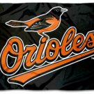 Baltimore Orioles Black flag 3X5Ft Banner USA Polyester with Brass Grommets - 14