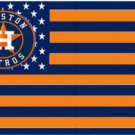Houston Astros US Nation flag 3X5Ft Banner USA Polyester with Brass Grommets - 11