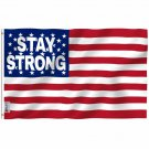 Fly Breeze Stay Strong Flag with Brass Grommets 3X5Ft Banner USA Polyester