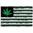 Fly Breeze Marijuana Leaf USA Flag with Brass Grommets 3X5Ft Banner USA Polyester
