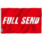 Fly Breeze Full Send Flag with Brass Grommets 3X5Ft Banner USA Polyester
