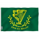 Fly Breeze Erin Go Bragh Flag with Brass Grommets 3X5Ft Banner USA Polyester