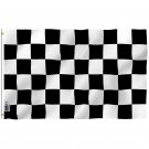 Checkered Flag - Black and White Racing Flag with Brass Grommets 3X5Ft Banner USA Polyester