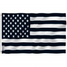 Fly Breeze Black and White American Flag with Brass Grommets 3X5Ft Banner USA