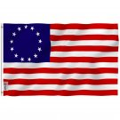 Betsy Ross Flag - United States Flag with Brass Grommets 3X5Ft Banner USA