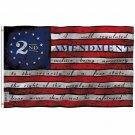 2nd Second Amendment Flag - 2nd Amendment 1791 Vintage American Flag 3X5Ft Banner USA