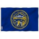 Nebraska State Flag - Nebraska NE Flag with Brass Grommets 3X5Ft Banner USA