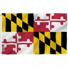 Maryland State Polyester Flag - Maryland MD Flag with Brass Grommets 3X5Ft Banner USA