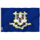 Connecticut State Polyester Flag - Connecticut CT Flag with Brass Grommets 3X5Ft Banner USA