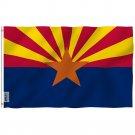 Arizona State Polyester Flag - Arizona AZ State Flag with Brass Grommets 3X5Ft Banner USA