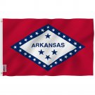 Arkansas State Polyester Flag - Arkansas AR Flag Polyester with Brass Grommets 3X5Ft Banner USA
